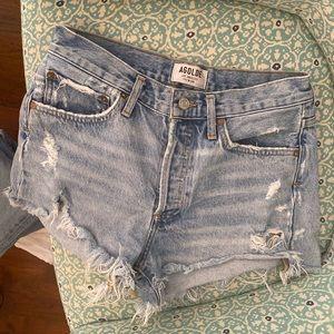 AGOLDE Parker High Rise Denim Shorts